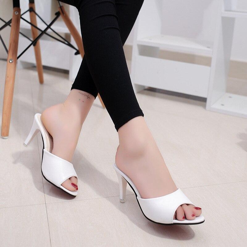 HOKSVZY Women Slipper 2019 Slippers women's Fashion Wear Stiletto Fish Mouth Stiletto Sandals Slippers women's Sandals FZZ-2902