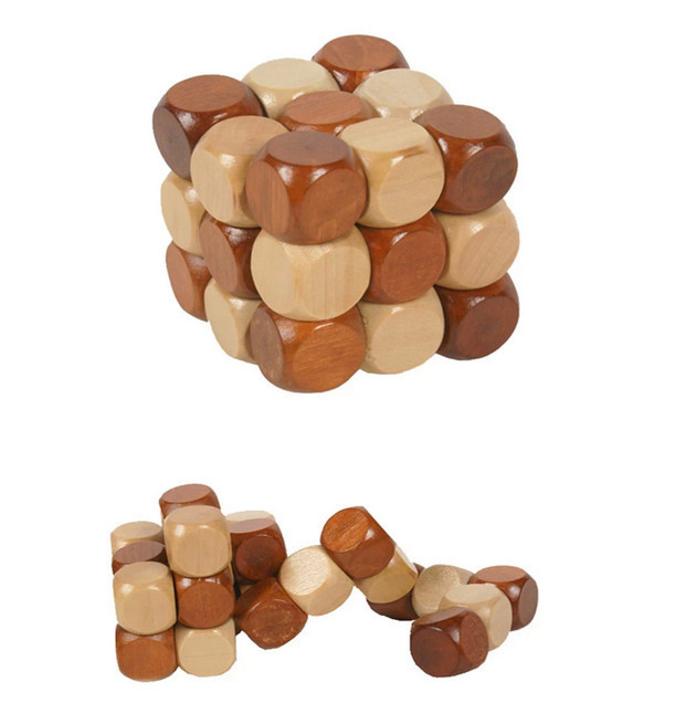 Baby Toys China Dragon Ancestral Locks Traditional Wooden Brain Teaser Puzzle Educational Toys Ming Luban Lock Magic Cube  Gift