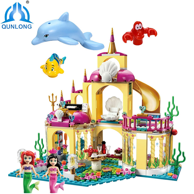 Fairy Figures Frozenn mermaid Cinderella Building Blocks Model Compatible Legoe Friends City Disneyy Princess Castle Girl Toys