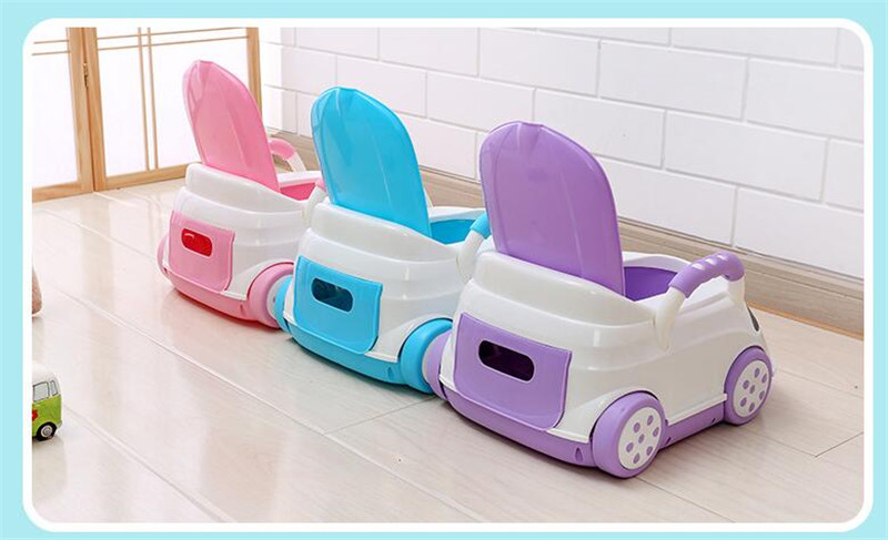 Cute Bebe Camping Car Portable Potty Child Cartoon Toilet Seat Kids Pinico WC Toilets For Boys & Girls Baby Potty Training Free 07