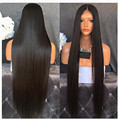 Stock Silky Straight Synthetic Lace Front Wig With Baby Hair Black Hair Wigs With Natural Hairine Top Quality Heat Resistat Hair