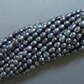 "Hot sell ->@@ N632 5strand Lustrous 5-7mm Peacock Rice Freshwater Pearl Beads 15"" -Top quality free shipping"