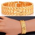 U7 Valentives Gift For Men Jewelry Trendy Bracelet Men Love Heart Yellow Gold Plated 20CM Mens Bracelets H179