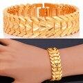 U7 valentives presente para homens jóias pulseira da moda dos homens do amor do coração banhado a ouro amarelo 20 cm mens pulseiras h179