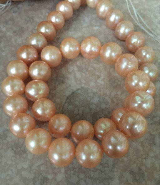 gorgeous 9-10mm south sea gold pink pearl necklace 18inch 14k/20gorgeous 9-10mm south sea gold pink pearl necklace 18inch 14k/20