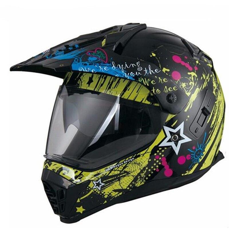 NEUE moto rcycle doppel objektiv moto Fahrrad moto kreuz Off Road Helm ATV Dirt bike Downhill MTB DH Racing Helm kreuz Helm
