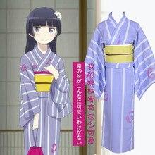 Ore no imouto ga konnani kawaii wake ga nai gokou ruri lolita dress cosplay del kimono + cinturón + bowknot