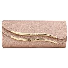 Bolsa clutch com lantejoulas, bolsa de mão rosa de casamento feminina