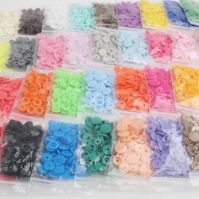 20Sets Round Plastic Snaps Button Fasteners KAM T5 12mm Garment Accessories For Baby Clothes Clips Quilt Cover Sheet Button