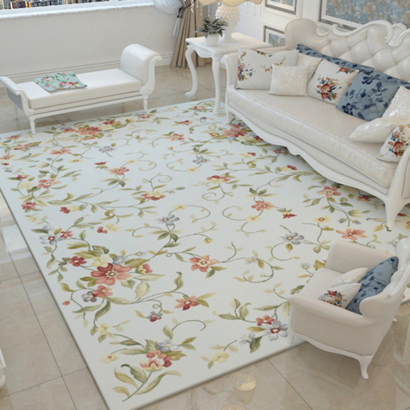 US $36.44 36% OFF|Nordic Flower Carpets For Living Room Large Red Soft Area  Rugs For Bedroom Pink Floral Carpet Floor Rugs Coffee Table Are Rug-in ...