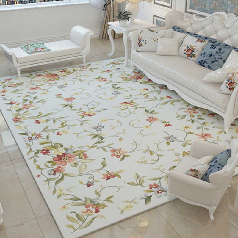 Floral Rugs For Living Room.Nordic Flower Carpets For Living Room Large Red Soft Area Rugs For Bedroom Pink Floral Carpet Floor Rugs Coffee Table Are Rug