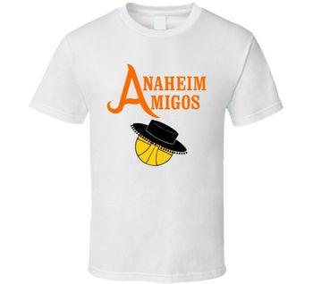 a3e4030d Анахайм Amigos Ретро Баскетбольная Футболка летняя Мужская модная футболка  новейшие футболки, модные стильные мужские повседневные футболки .