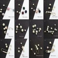 RE Для женщин кристалл лук брошь жемчуг крупные украшения стразами шарф лацкан жемчужные броши для Для женщин металлический штырь знак A1550
