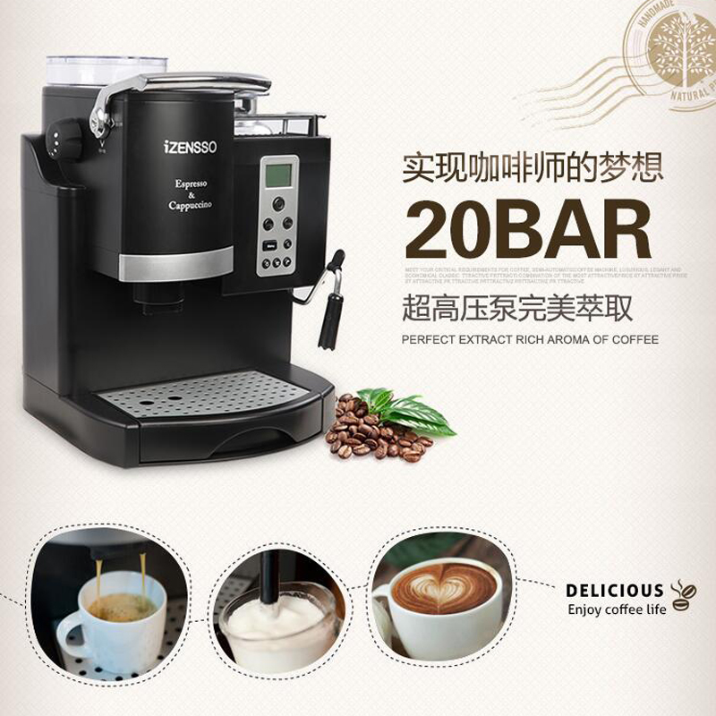 Automatic Espresso Coffee Maker Machine With Grind Bean And Froth Milk Home Shop SN 3035 In Makers From Appliances On Aliexpress