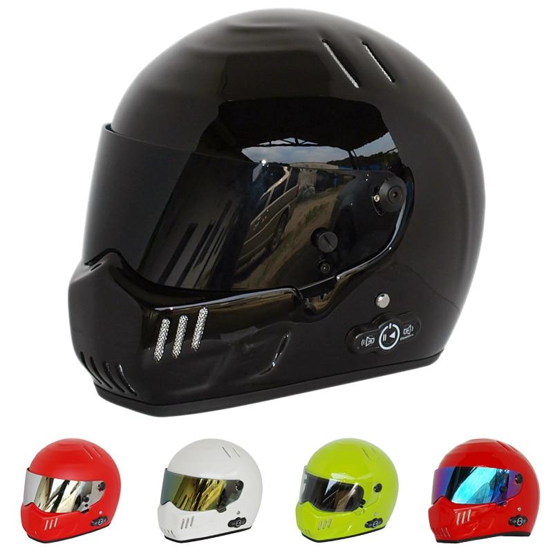 Casque moto Star Wars prédateur intégral ATV Motorcross crâne Casque Bluetooth bulle Crash Casque Scooter descente Kask