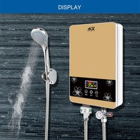 Electric Water Heater Household Inverter Constant Temperature Instant Heating Tap Shower CPU Bathroom Watering Heater 7500W