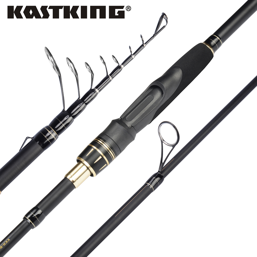 KastKing BlackHawk II Telescopic Casting Spinning Fishing Rod with 6 Sections F/MF