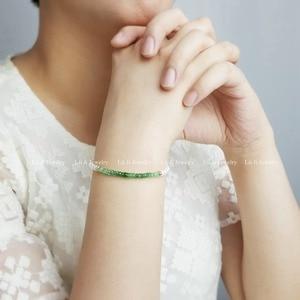 Image 2 - LiiJi Unique Natural Emerald Freshwater Pearl Beads 925 Sterling Silver Gold Color/Goldfilled  Bracelet Nice Gift for Women