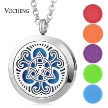 10pcs/lot Aromatherapy Diffuser Locket Necklace 316L Stainless Steel Pendant Magnetic 30mm without Felt Pads VA-332*10(China)