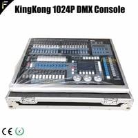Dj 컨트롤러 크리에이터 kingkong 1024 pro 케이스 포함 1024p 라이트 믹서 콘솔에는 빅 쇼용 먼지 커버 및 비행 케이스 포함