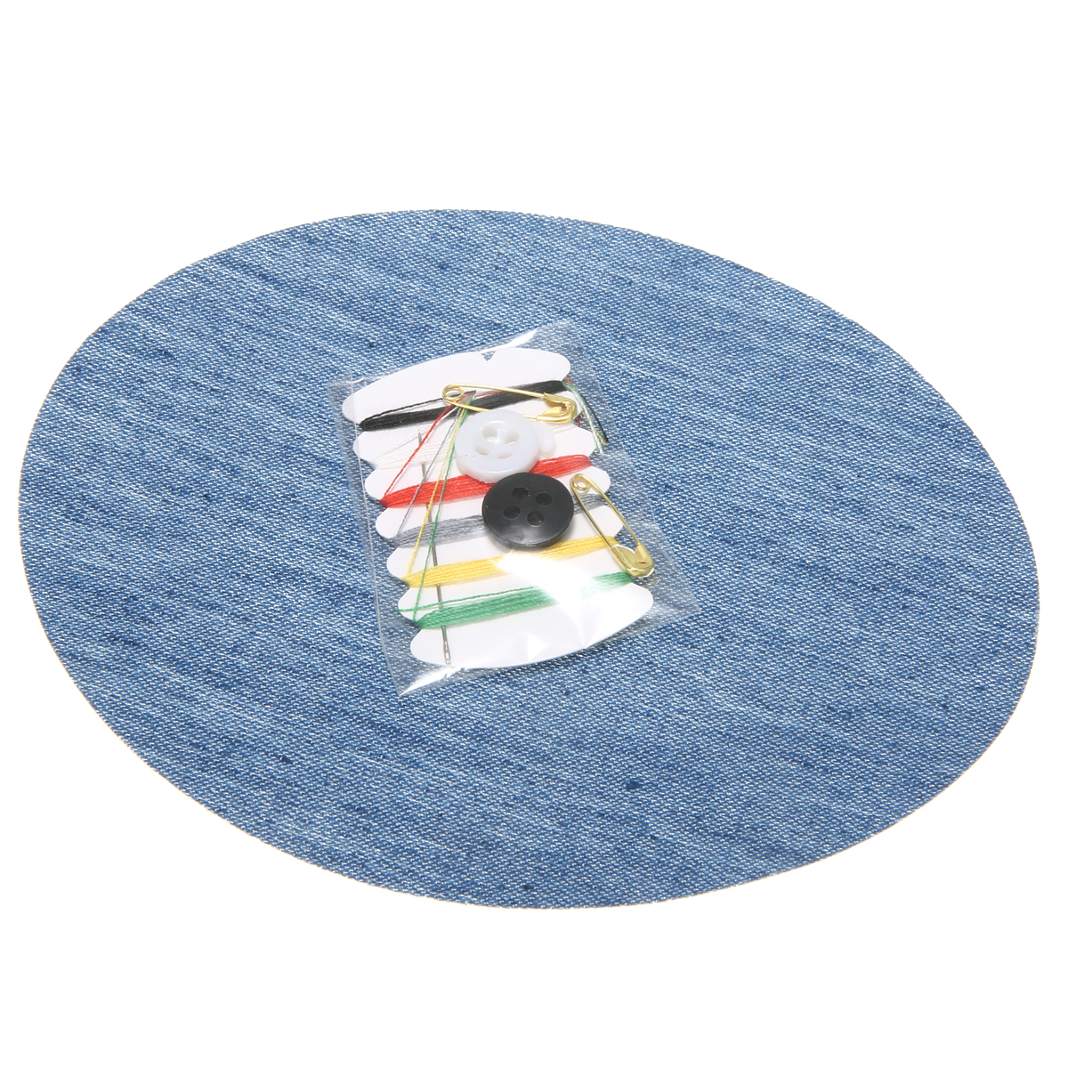 20pcs Iron On Denim Patches Sewing Kit For Mending Embellishing Jeans Bag Hat Repair Decor Design in Patches from Home Garden