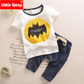 Baby Boy Clothes 2017 Summer Kids Boys Clothes Toddler Boy Clothing Set Cartoon Bat T-shirt+Pants Cotton for Children T506