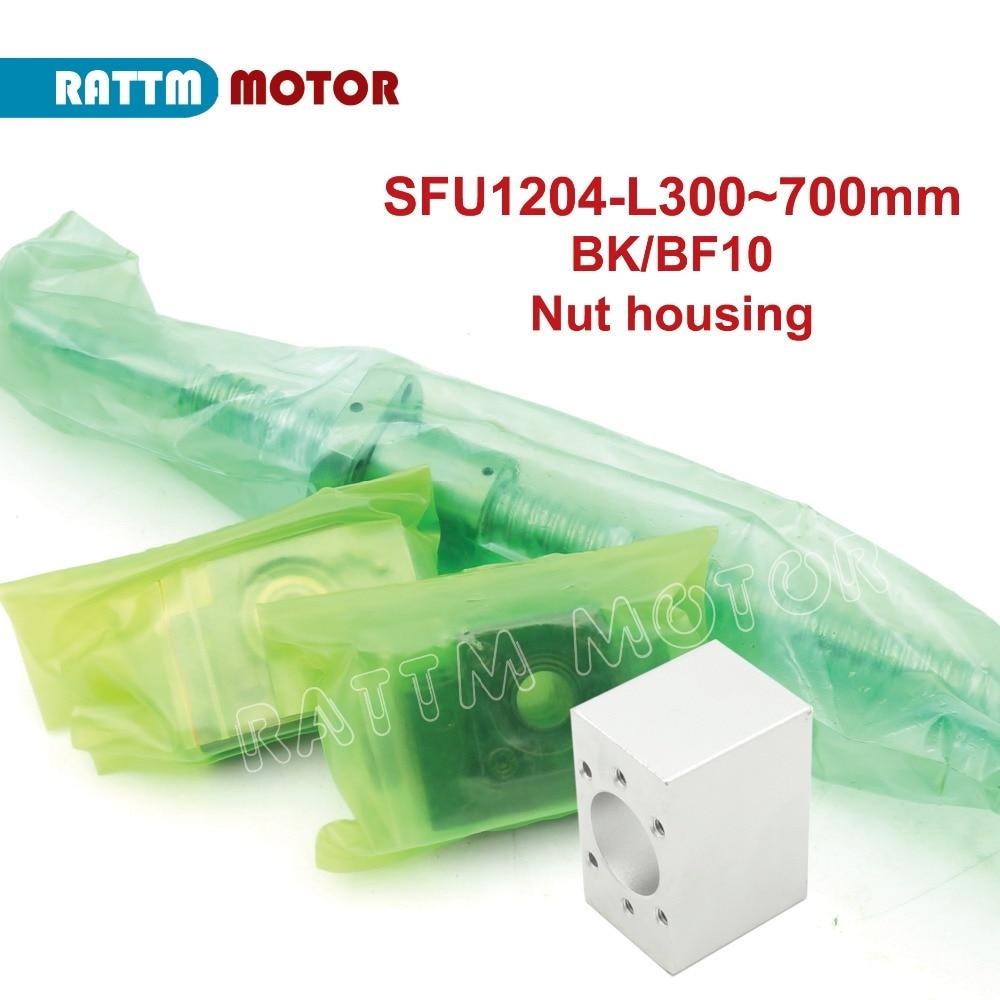RUS Livraison! SFU1204 Ballscrew-L600mm avec 1204 écrou à billes + BK/BF10 + traitement standard d'extrémité