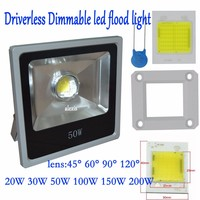 Led Flood Light Dimmable Driverless 20W 30W 50W 100w 60 90degree Led Outdoor Lighting 220 265V