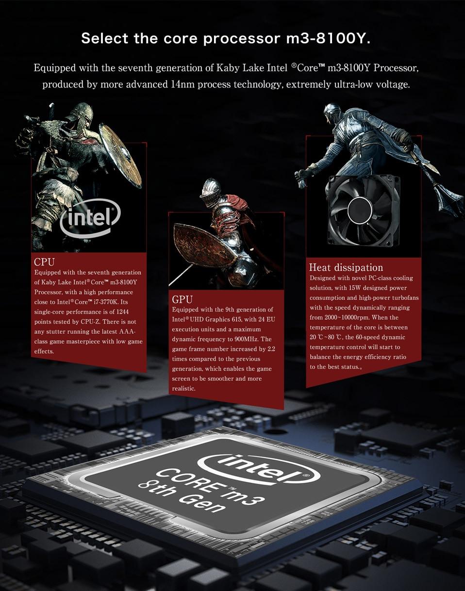 GPD Mini Gaming Laptop Windows 10 Touch Screen 8GB Intel 6 Inch 5