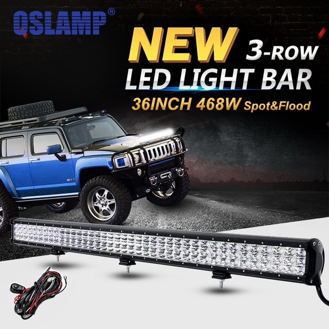 Oslamp 6d 3 row 36inch 468w led light bar offroad combo beam led oslamp 6d 3 row 36inch 468w led light bar offroad combo beam led work light aloadofball Gallery