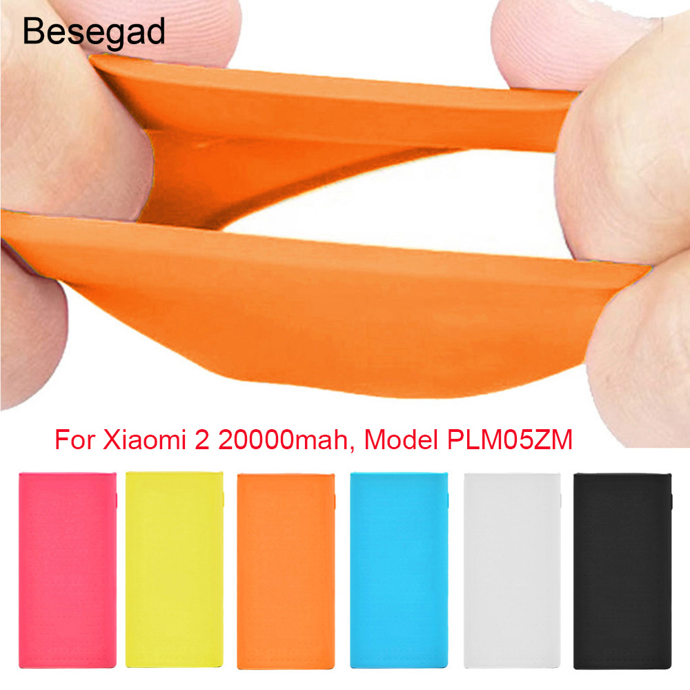 Silicone Protective <font><b>Case</b></font> Cover Skin Shell Sleeve <font><b>For</b></font> <font><b>Xiaomi</b></font> Xiao Mi Xiomi 2 <font><b>20000mAh</b></font> <font><b>Power</b></font> <font><b>Bank</b></font> Powerbank 20000 mAh <font><b>Case</b></font> image