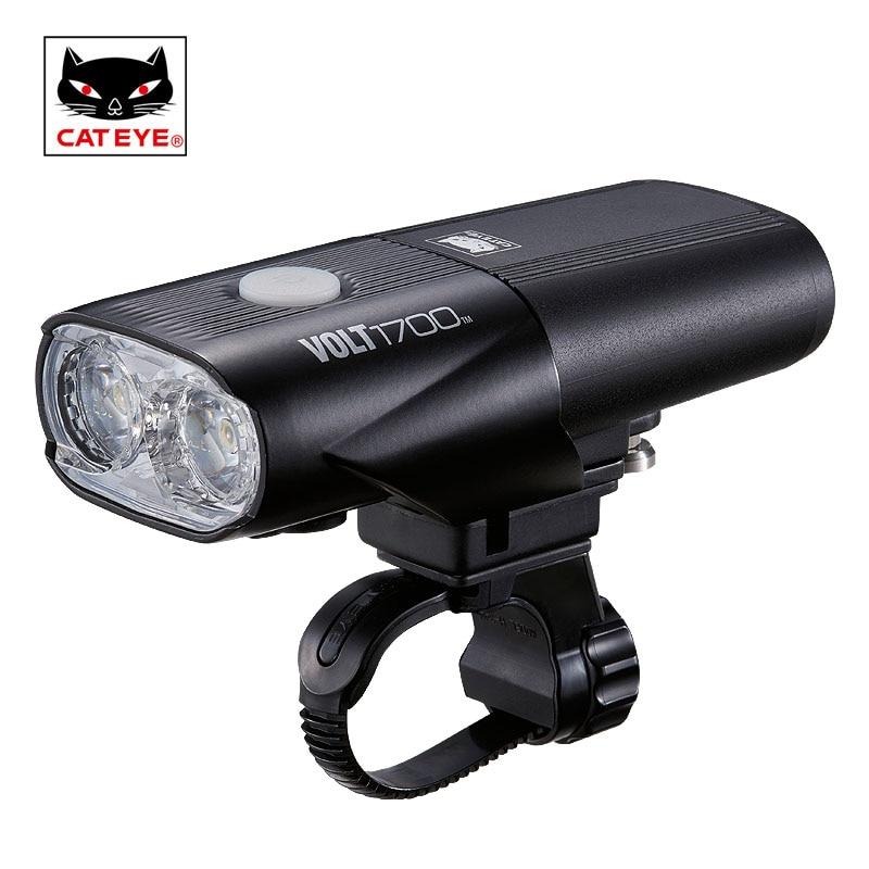 CATEYE 1700 лм велосипедные фары Велоспорт передние велосипедные фары водостойкие фары USB Перезаряжаемый руль лампа фонарь светодио дный светод