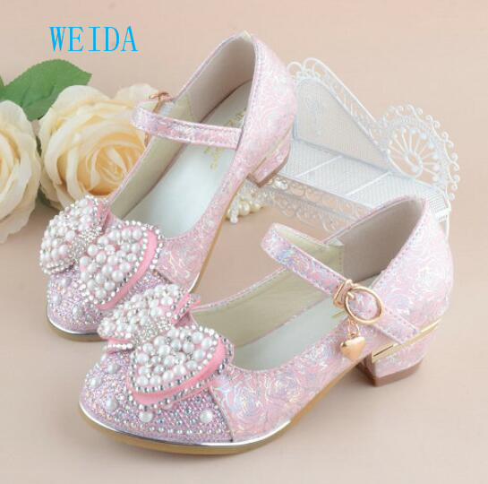 2018 new childrens princess sandals boys and girls wedding shoes high heels dress shoes girls shoes party casual shoes