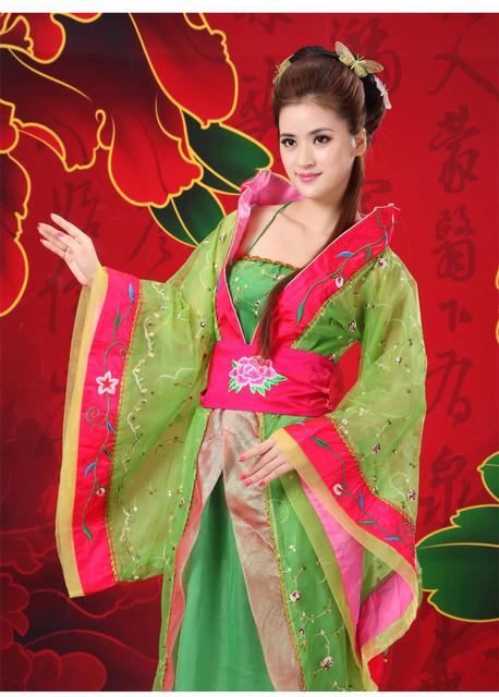 2016 Trajes Antiguos Chinos Ropa Dinastía tang Ropa Princesa de Hadas mujeres Hi-q Femenina Hanfu Traje de Las Mujeres LIBRES GRATIS