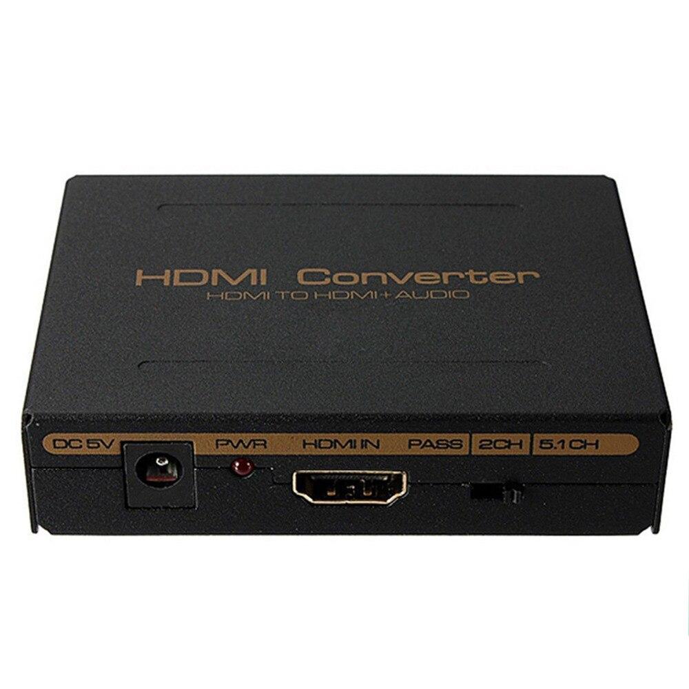1080 p HDMI zu HDMI Optische SPDIF Suppport 5,1 + RCA L/R Audio Video Extractor Konverter Splitter Adapter für PC DVD HD Kamera