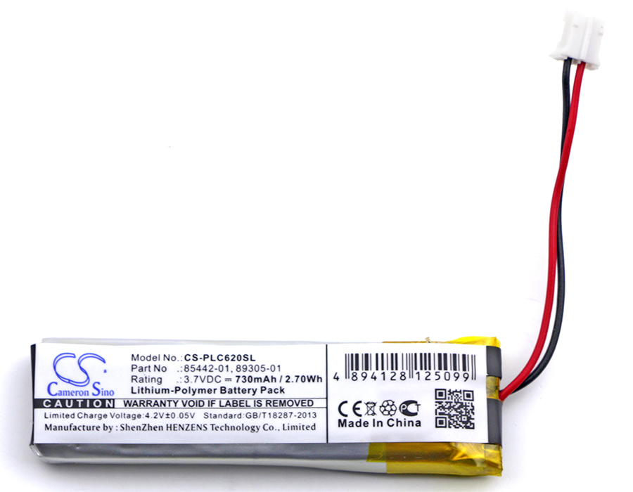 Cameron Sino 730mAh Battery 85442-01, 89305-01 for Plantronics Calisto 620, Calisto 620M, Calisto 620UC/M, P620, P620-MCameron Sino 730mAh Battery 85442-01, 89305-01 for Plantronics Calisto 620, Calisto 620M, Calisto 620UC/M, P620, P620-M