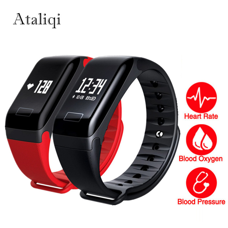 Activity Fitness tracker Smart Bracelet Heart Rate blood pressure watches F1 smart wristband Call reminder Pedometer