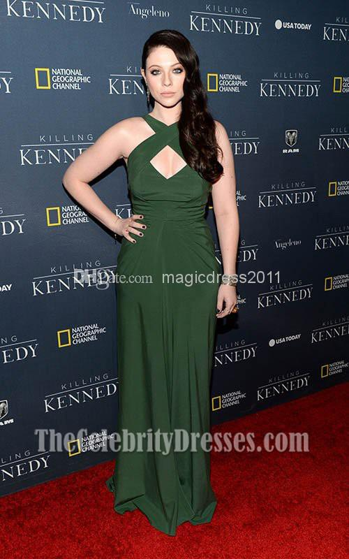 Wholesale 2014 Michelle Trachtenberg Green Chiffon Evening dress la premiere  of killing kennedy Celebrity Dresses A Line Crew-in Evening Dresses from ... f2600ad86479