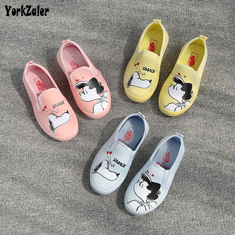 Yorkzaler Spring Autumn Kids Shoes For Girl Boy Cartoon Graffiti Children's Sneakers Casual Toddler Baby Comfortable Sport Shoes