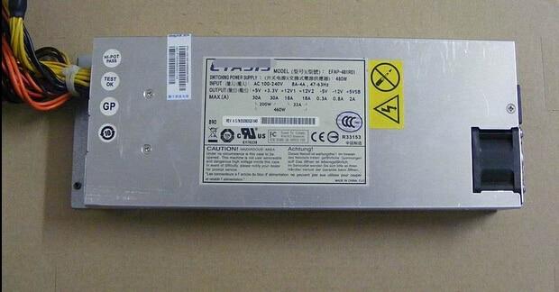 1U Server Power Supply For  EFAP-481R01 480W  Original 95%New Well Tested Working One Year Warranty power supply for fps180 50pla 1u well tested working