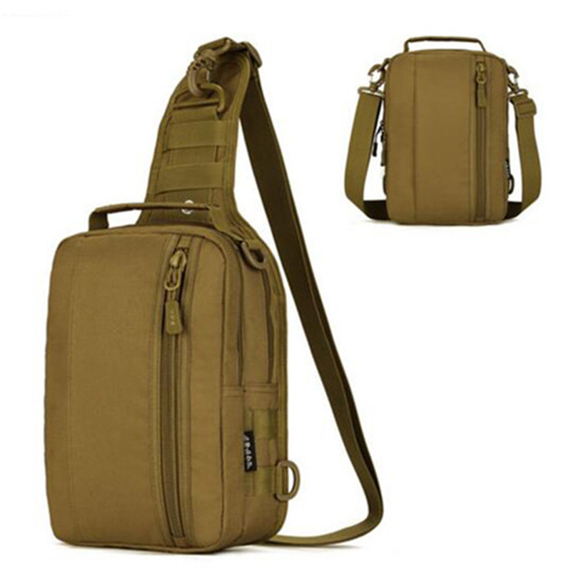 Män Militär Bröstpaket Nylon Man Single Shoulder Back Pack Man Resa Messenger Bag Herr Army Hike Rucksack Casual Bags 30