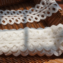 5 Yards=1 Lot Off white water soluble lace trim 9cm! 2019 NEW dress clothing diy sewing border trimming Top quality