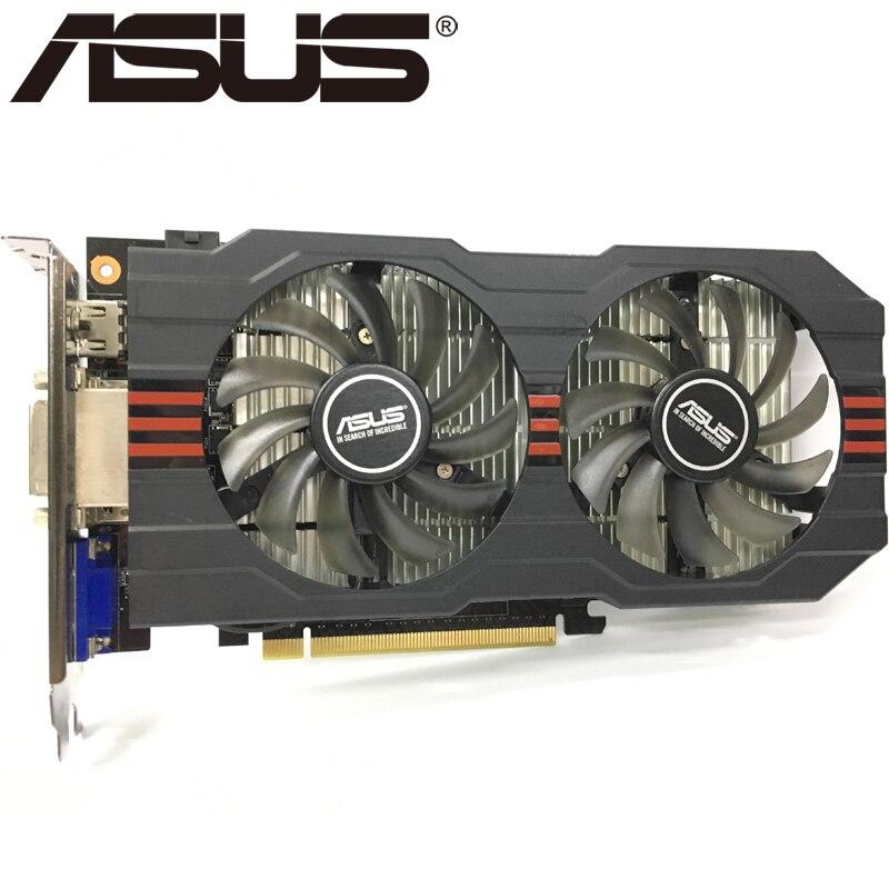 Видеокарта ASUS, GTX 750 Ti 2 Гб 128 бит GDDR5, графические карты для nVIDIA Geforce GTX 750Ti, б/у, VGA карты GTX750TI 1050, оригинал-1