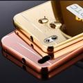 Espelho case para htc desire 820 luxo acrílico + alumínio magro tampa traseira para htc desire 820 móvel telefone coque