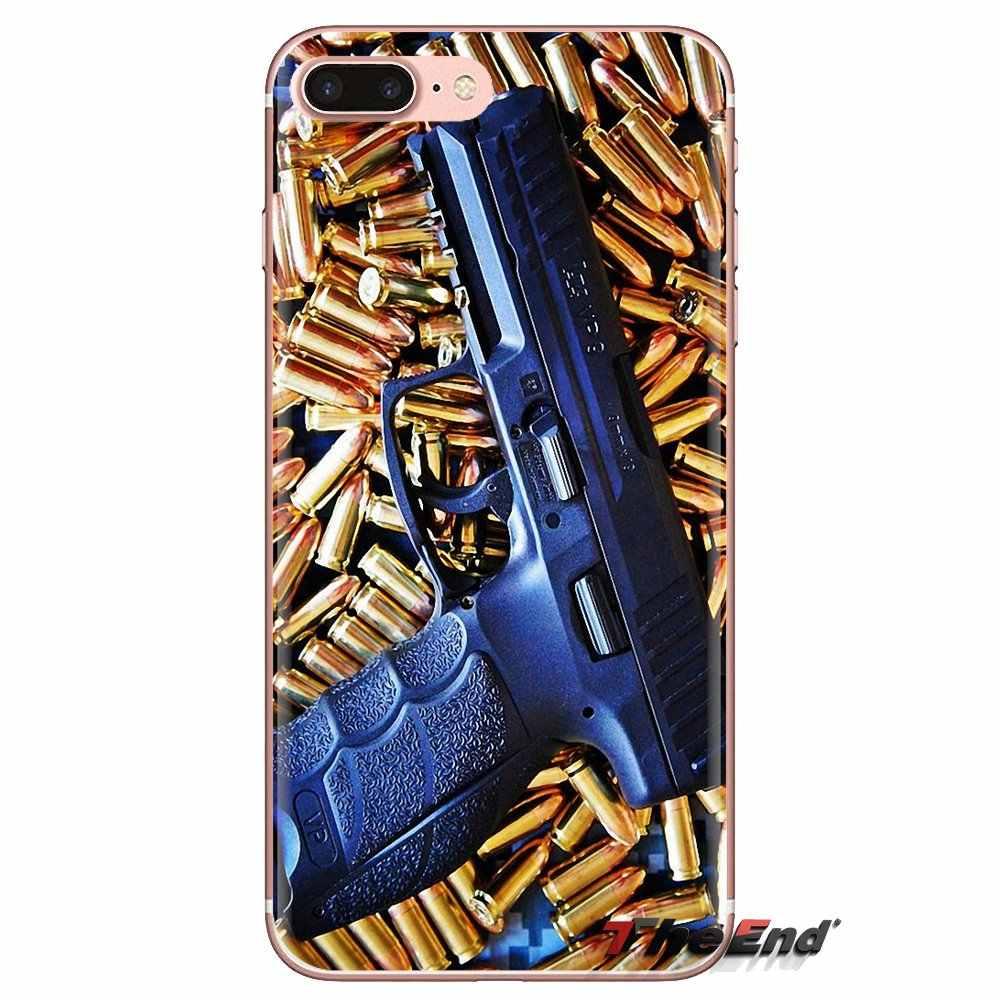 Trasparente Morbido Custodie Coperture Per Huawei Compagno Honor 4C 5C 5X6X7 7A 7C 8 9 10 8C 8X20 Lite Pro Army Fucile Da Cecchino pistola proiettile