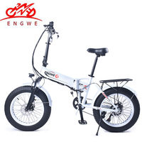 Electric bike 48V10A Lithium Battery 20 4.0 fat Tire Snow e Bike Aluminum Folding 350W Powerful electric Bicycle Mountain ebike