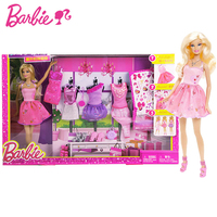 Original Barbie Doll Toys Princess Designer Collection Gift Box Set With Barbie Clothes Dress For Baby