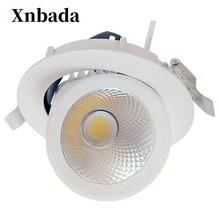 7 w 40 w 회전 led 통 ac110v 220 v led cob 천장 전구 recessed led 스포트 라이트 디 밍이 가능한 장식 램프 무료 배송
