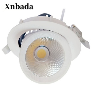 Image 1 - 7W 40W Rotatable LED Downlight AC110V 220V  Led COB Ceiling BulbRecessed LED Spot Light Dimmable Decoration Lamp Free shipping
