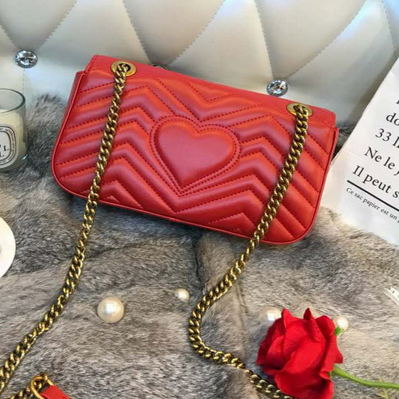 Luxury Handbags Women Bags Designer Leather Famous Brand Woman Bags 2018 Messenger Bag Women Shoulder Bag Crossbody Lady GG Red famous brand handbags women shoulder bag designer chain leather bag small crossbody bags for women messenger bags